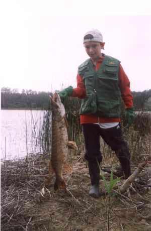 James Norton with his 16lb Pike
