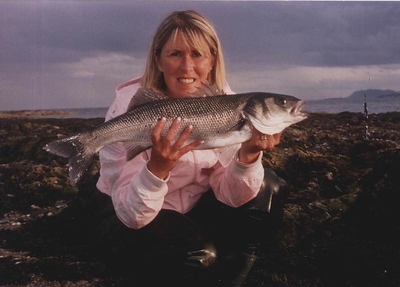 Marian Mc Ewens specimen bass from Dublin bay